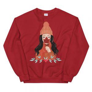 autumn girl sweater