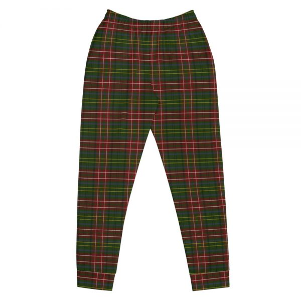 green tartan jogging pants