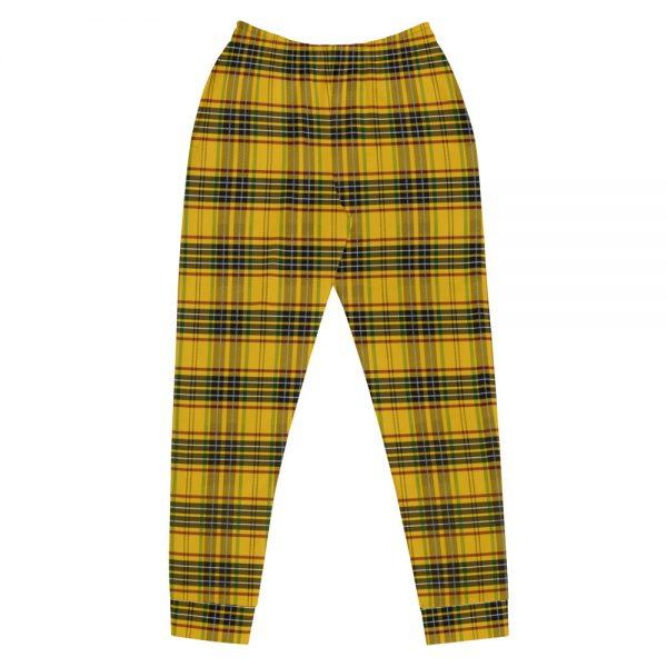 yellow tartan jogging pants